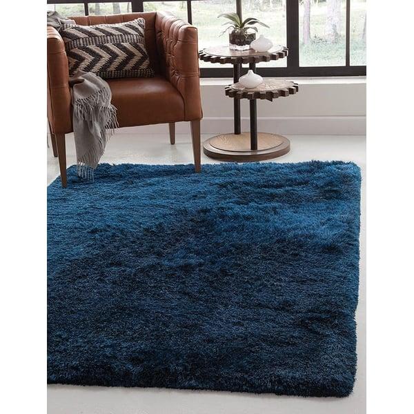 Blue (8506) Shag Area Rug