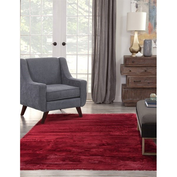 Red (2803) Shag Area Rug