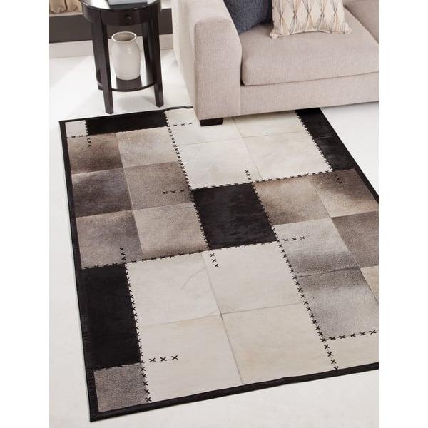 Black, Brown, Grey (002) Contemporary / Modern Area-Rugs