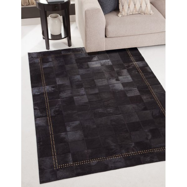 Black, Gold (003) Contemporary / Modern Area Rug