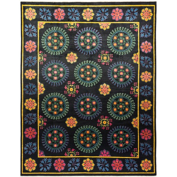 Onyx, Violet, Gold Traditional / Oriental Area Rug
