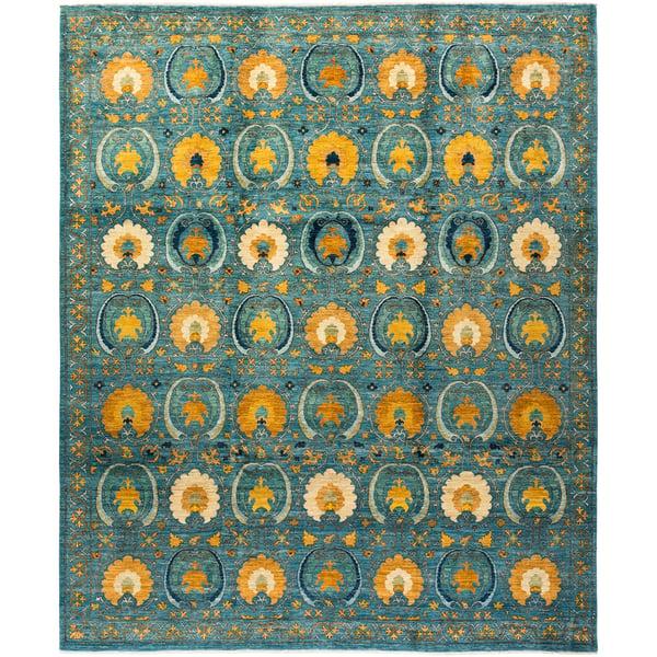 Cerulean, Marigold, Ivory Traditional / Oriental Area Rug