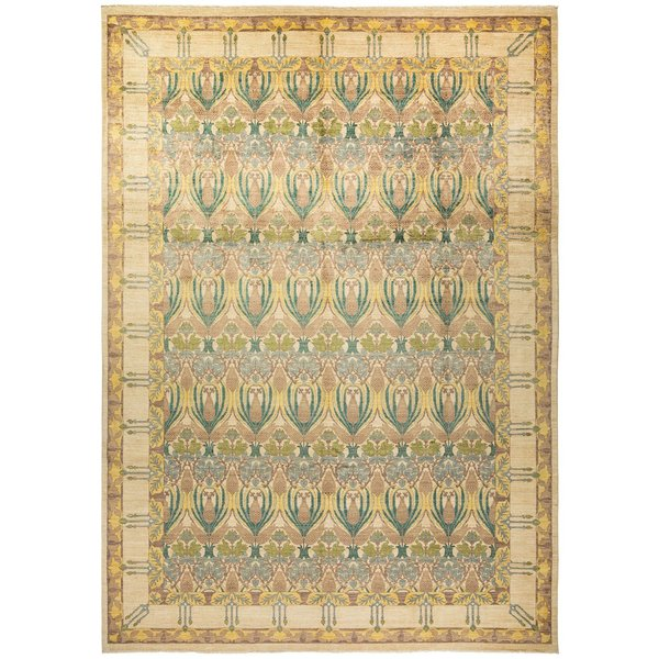 Parchment, Sand, Emerald Traditional / Oriental Area-Rugs