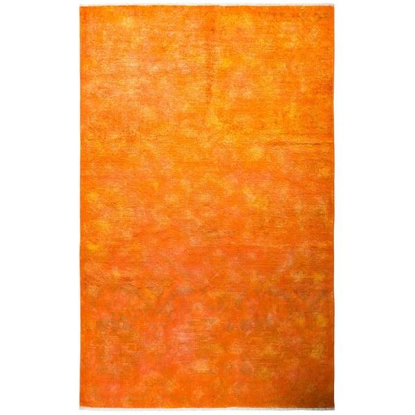 Orange Bohemian Area-Rugs