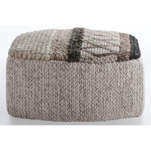 Cream, Grey, Brown (MP-1N) Contemporary / Modern poufs
