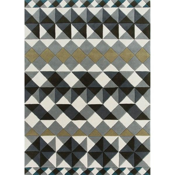 Grey Geometric Area-Rugs