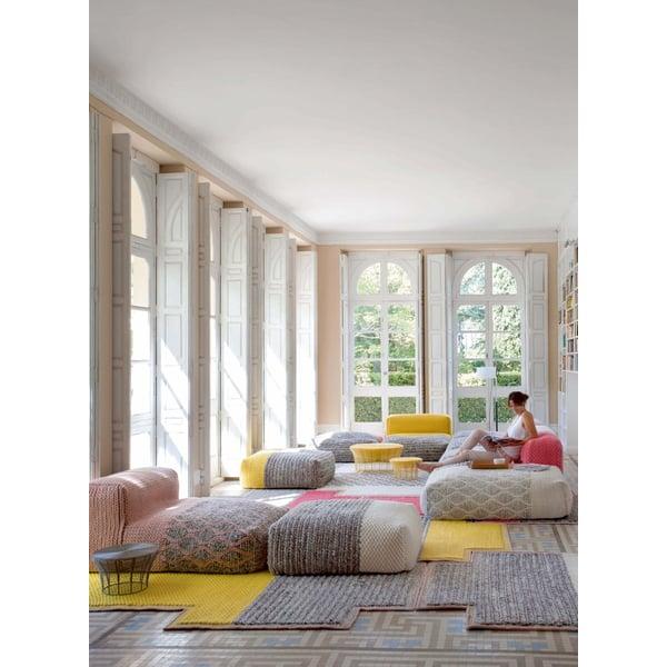 Yellow Contemporary / Modern poufs