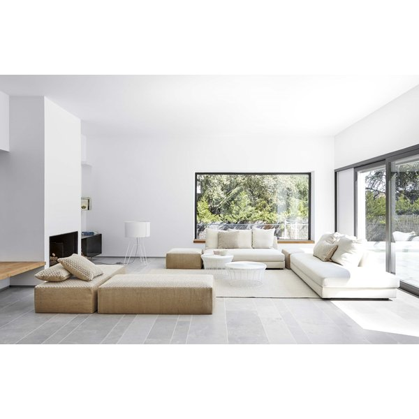 White Contemporary / Modern poufs