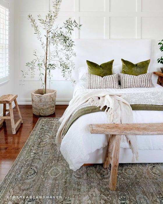 Green Bedroom Rug Ideas