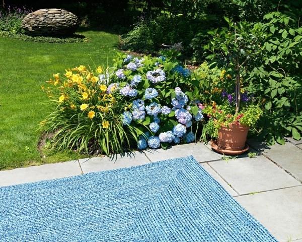 Blue Wave (CA-59) Outdoor / Indoor Area Rug
