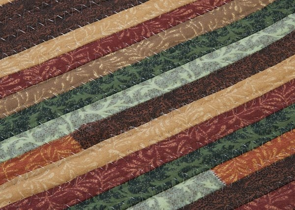 Red, Brown (QC-02) Country Area Rug