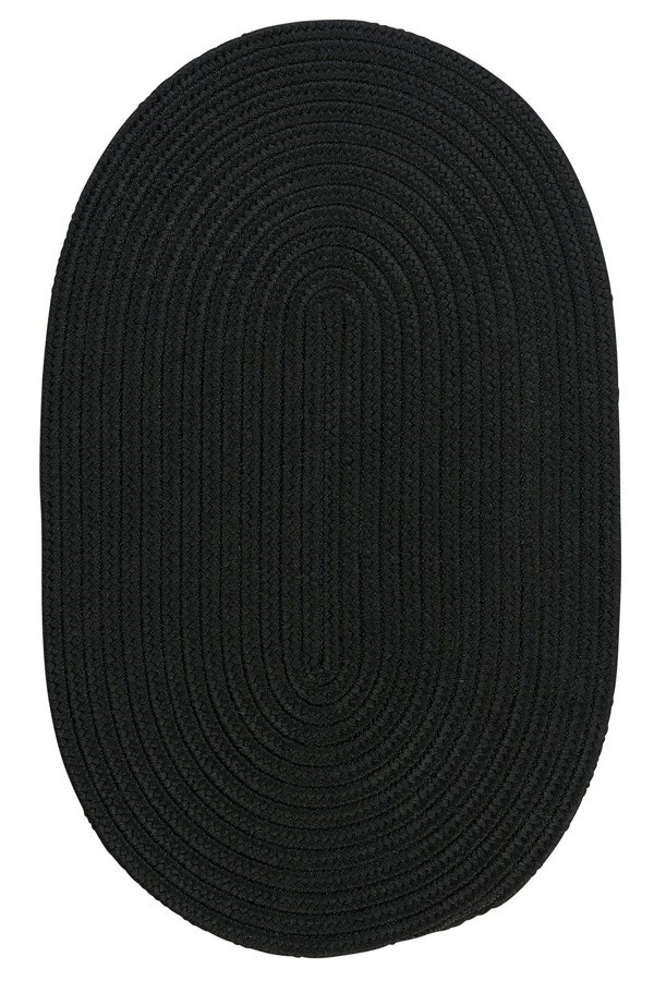Black (BR-42) Outdoor / Indoor Area Rug