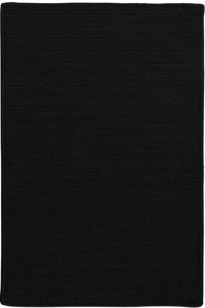 Black (H-031) Outdoor / Indoor Area Rug