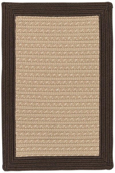 Brown, Beige (BY-03) Country Area Rug