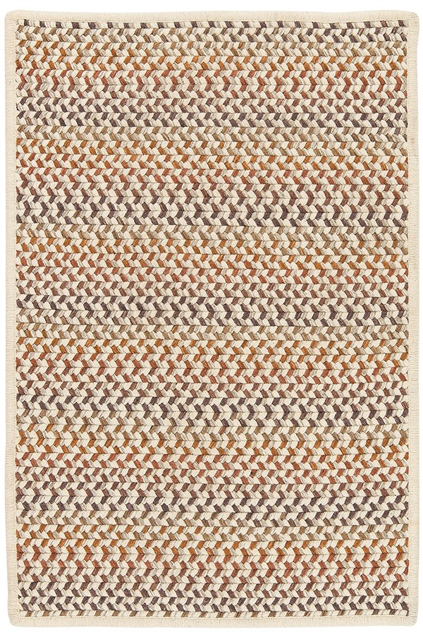 Natural, Orange, Red (PN-01) Country Area Rug