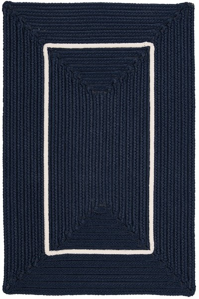 Lake Blue, White (FY-52) Outdoor / Indoor Area Rug