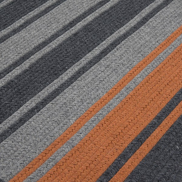 Charcoal, Orange (FZ-29) Country Area Rug