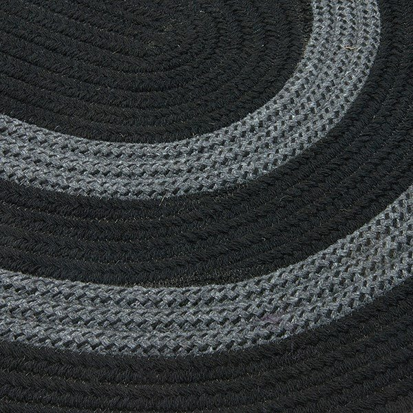 Black, Gray (GW-13) Country Area Rug
