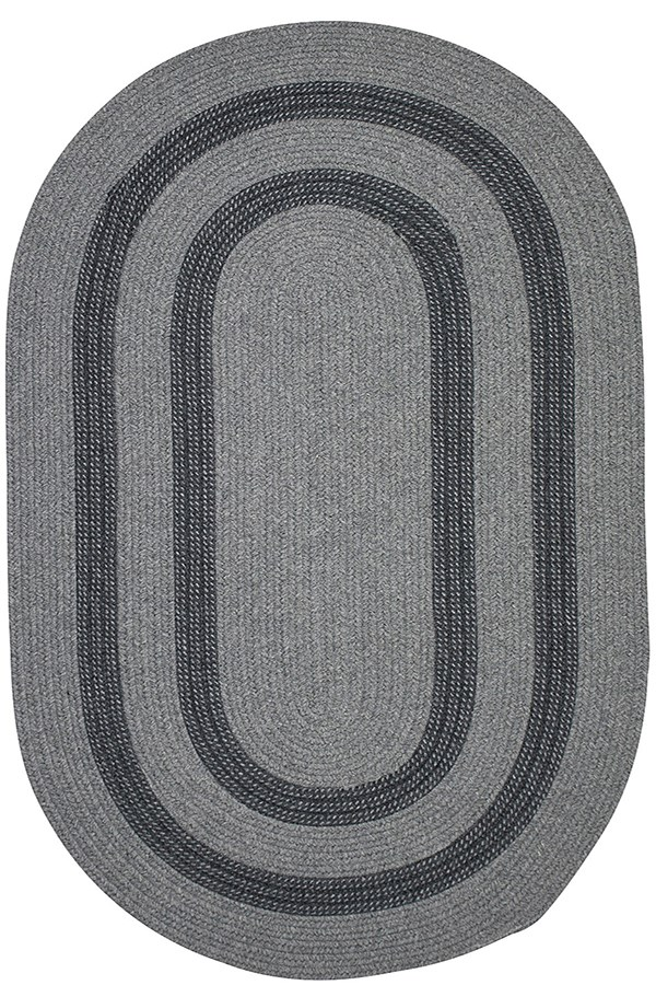 Gray, Charcoal (GW-23) Country Area Rug