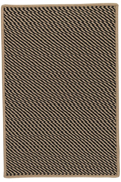 Black, Beige (IM-13) Outdoor / Indoor Area Rug