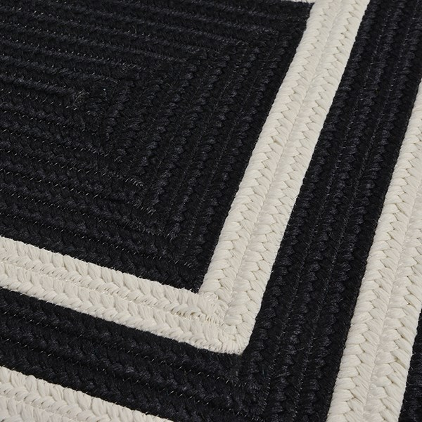 Black, White (PY-21) Outdoor / Indoor Area Rug