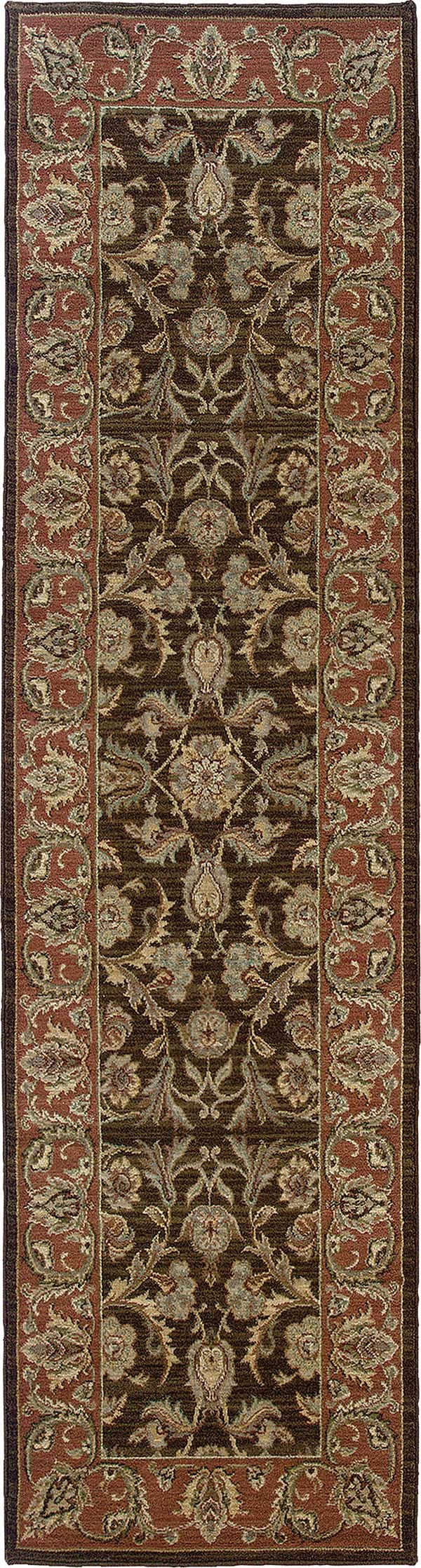 Brown, Rust (42A) Traditional / Oriental Area Rug