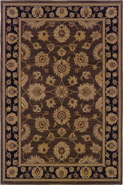 Brown, Black (339A) Traditional / Oriental Area Rug