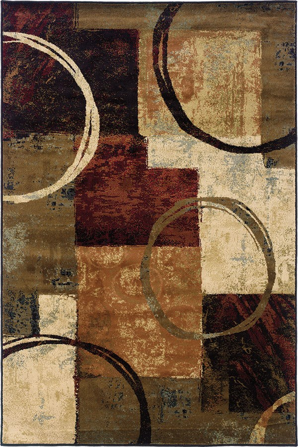 Brown, Black Contemporary / Modern Area Rug