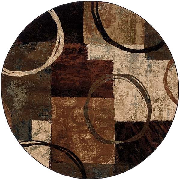 Brown, Black Contemporary / Modern Area Rug