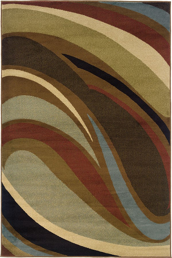 Brown Contemporary / Modern Area Rug