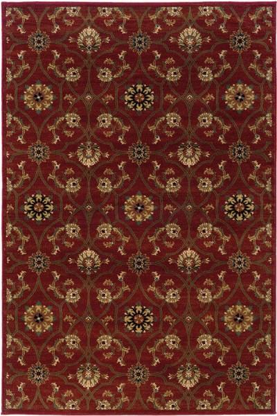 Red, Brown (3299A) Traditional / Oriental Area Rug