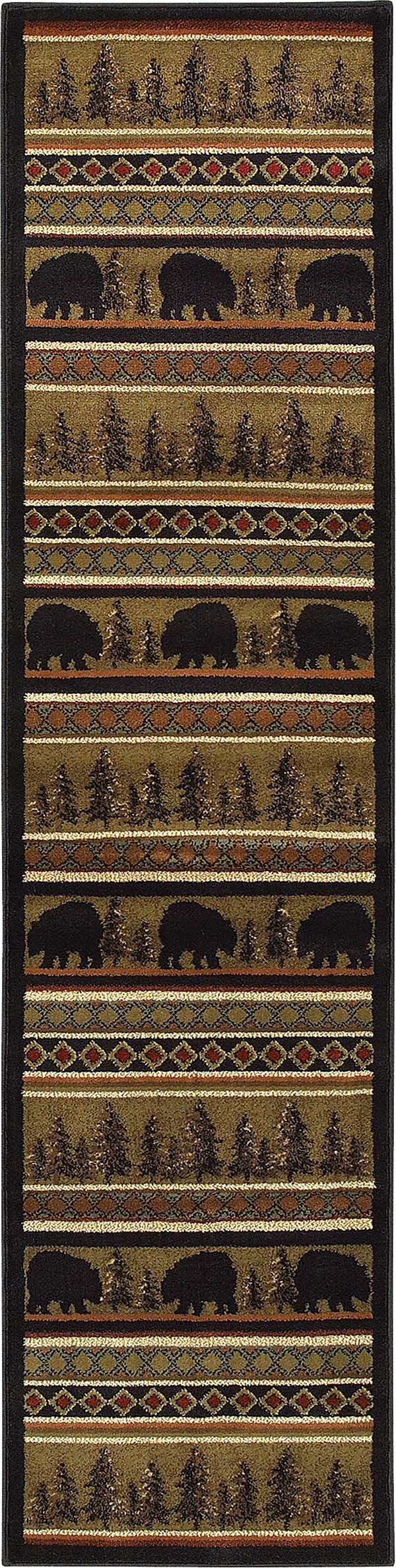Black, Beige Southwestern / Lodge Area Rug