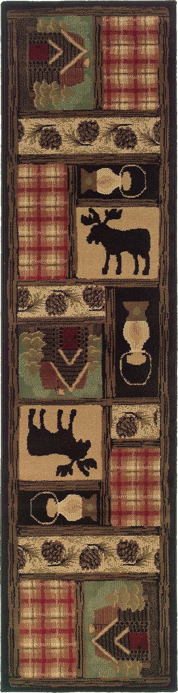 Brown, Red Southwestern / Lodge Area Rug