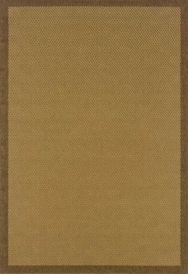 Beige, Brown (525D7) Outdoor / Indoor Area Rug