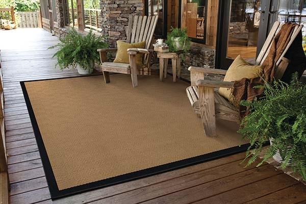 Beige, Black (525X) Outdoor / Indoor Area Rug