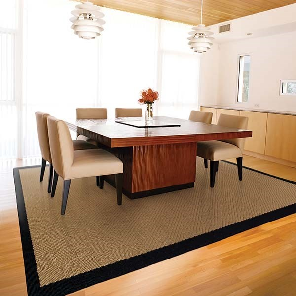 Beige, Black (525X) Outdoor / Indoor Area Rug