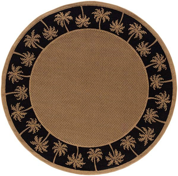 Beige, Black (606K5) Bordered Area Rug