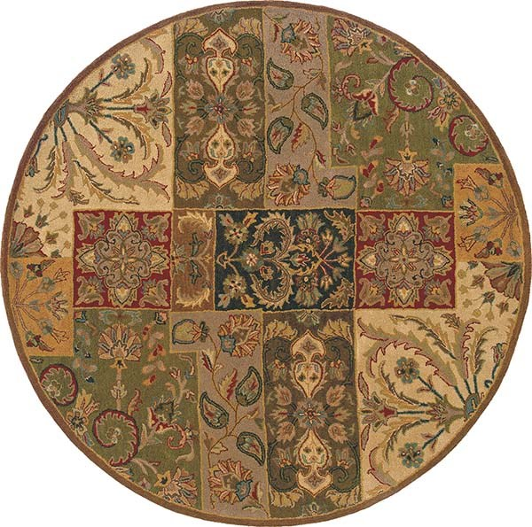 Beige, Brown Traditional / Oriental Area Rug