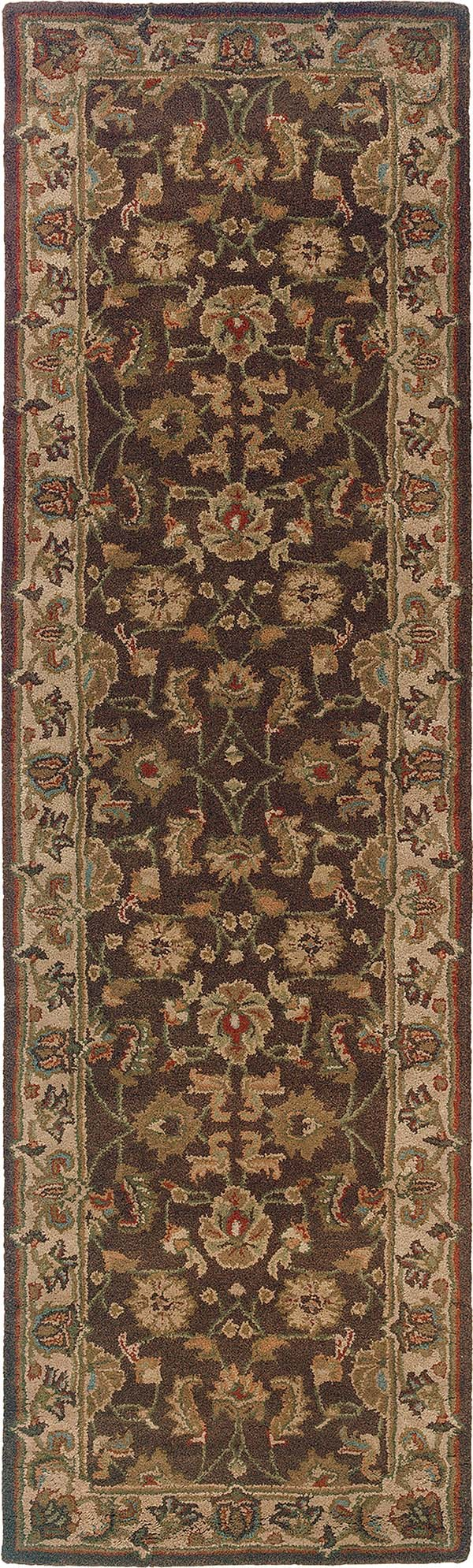 Brown, Beige Traditional / Oriental Area Rug