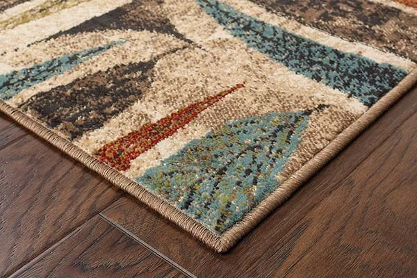 Ivory, Brown Contemporary / Modern Area Rug