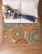 Product Image of Gold, Blue Contemporary / Modern Area Rug