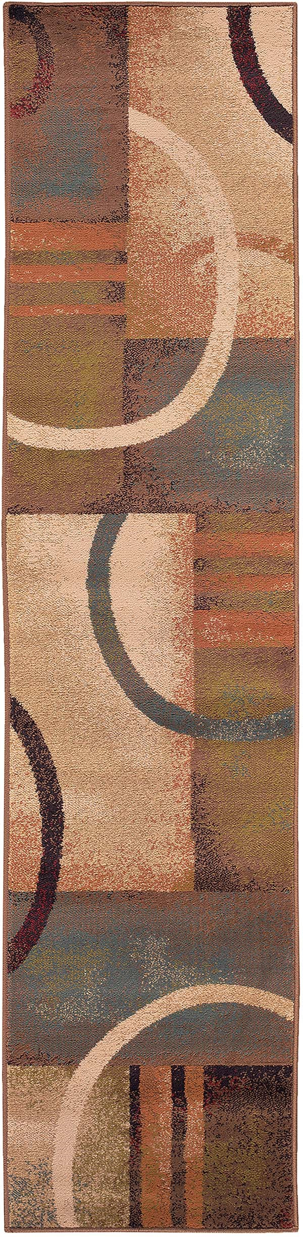 Brown, Gold Contemporary / Modern Area Rug