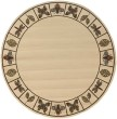 Product Image of Ivory, Brown Bordered Area Rug