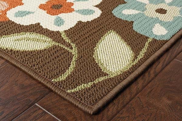 Brown, Ivory (2267D) Outdoor / Indoor Area Rug