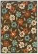 Product Image of Floral / Botanical Brown, Ivory (2267D) Area Rug