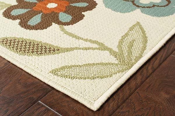 Ivory, Brown (2267Y) Outdoor / Indoor Area Rug