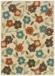 Product Image of Floral / Botanical Ivory, Brown (2267Y) Area Rug