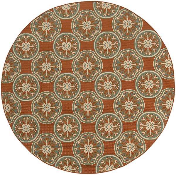 Copper, Ivory (8323D) Moroccan Area Rug