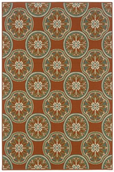 Copper, Ivory (8323D) Outdoor / Indoor Area Rug