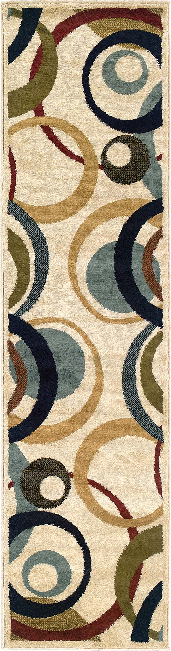 Ivory, Beige Contemporary / Modern Area Rug